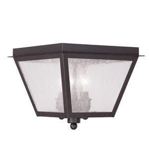 Amwell Bronze Three-Light Outdoor Ceiling Mount