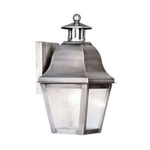 Amwell Vintage Pewter One-Light Outdoor Fixture