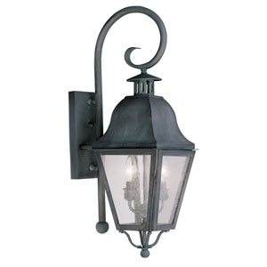 Amwell Charcoal Two-Light Outdoor Wall Lantern