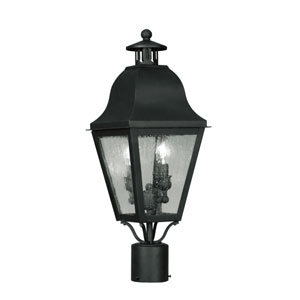 Amwell Black Two-Light Outdoor Fixture