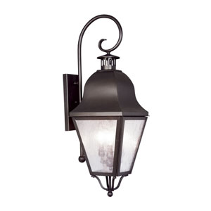 Amwell Bronze Three-Light Outdoor Fixture