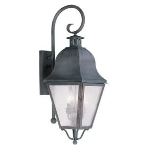 Amwell Charcoal Three-Light Outdoor Wall Lantern