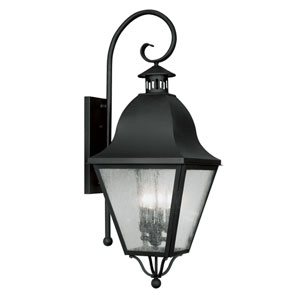 Amwell Black Four-Light Outdoor Fixture