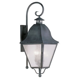 Amwell Charcoal Four-Light Outdoor Wall Lantern