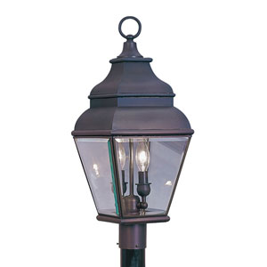 Exeter Bronze Two-Light Outdoor Fixture