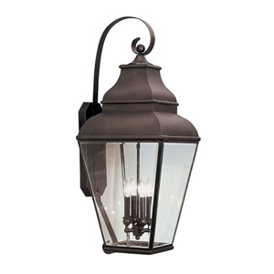 Exeter Bronze Four-Light Outdoor Fixture