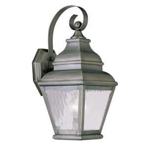 Exeter Vintage Pewter Outdoor Wall Sconce