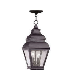 Exeter Bronze Two-Light Outdoor Pendant