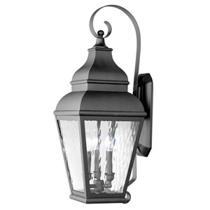 Exeter Three-Light Outdoor Wall Mount