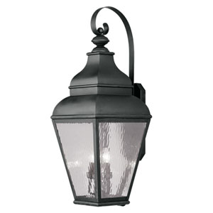 Exeter Black Outdoor Wall Lantern