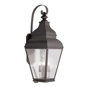 Exeter Bronze Four-Light Outdoor Wall Lantern