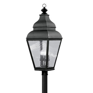 Exeter Black Outdoor Post Lantern