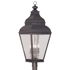 Exeter Charcoal Four-Light Outdoor Post Head