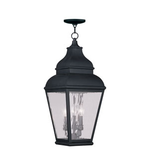 Exeter Vintage Pewter Three-Light Outdoor Chain Hang
