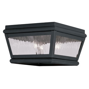 Exeter Charcoal Two-Light Outdoor Ceiling Mount