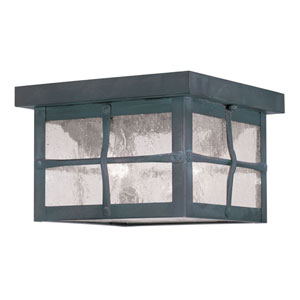 Brighton Hammered Charcoal Two-Light Outdoor Ceiling Mount