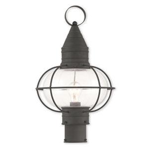 Newburyport Black One-Light 12-Inch Post Lantern