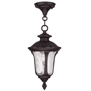 Oxford Bronze 14-Inch One Light Outdoor Chain Hung Pendant