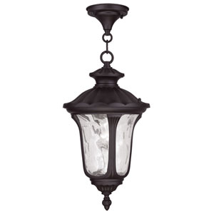 Oxford Bronze 17.5-Inch One Light Outdoor Chain Hung Pendant