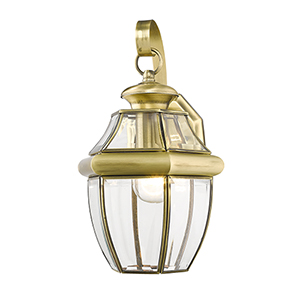 Monterey Antique Brass One-Light Outdoor Fixture