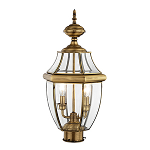Monterey Antique Brass Two-Light Outdoor Fixture