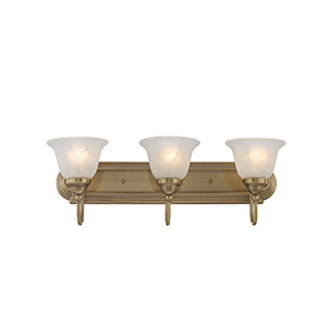 Belmont Three-Light Antique Brass Bath Fixture