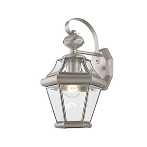 Georgetown Brushed Nickel One-Light Outdoor Fixture