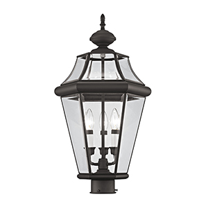 Georgetown Bronze Three-Light Outdoor Fixture