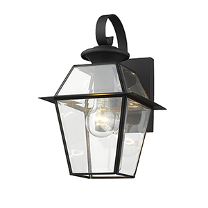 Westover Black One-Light Outdoor Fixture