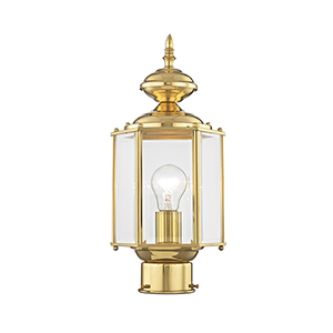 Basics Lantern Polished Brass One-Light Outdoor Fixture