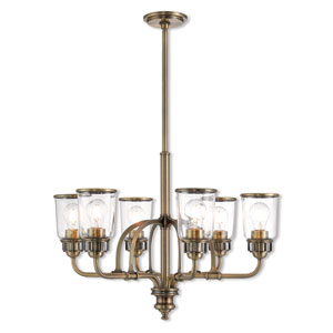 Lawrenceville Antique Brass 26-Inch Six-Light Chandelier