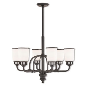 Lawrenceville Bronze 26-Inch Six-Light Chandelier