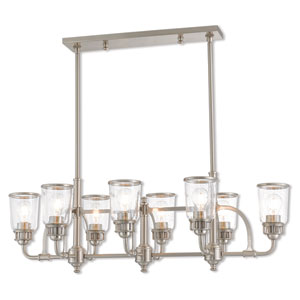 Lawrenceville Brushed Nickel 21-Inch Eight-Light Linear Pendant