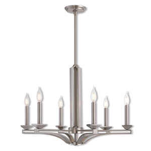 Trumbull Brushed Nickel 26-Inch Six-Light Chandelier