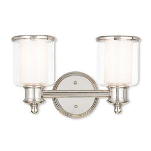Middlebush Polished Nickel Two-Light 14.5-Inch Bath Vanity