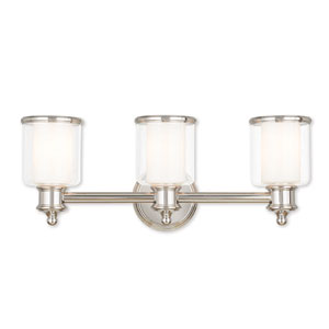 Middlebush Polished Nickel Three-Light 23.5-Inch Bath Vanity