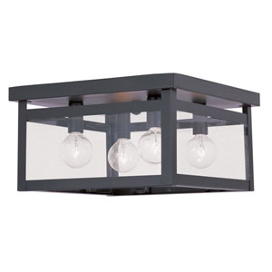 Milford Bronze Four-Light Ceiling Mount