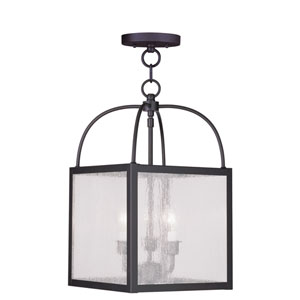 Milford Bronze Three-Light Convertible Chain Hang/Ceiling Mount