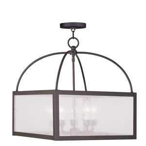 Milford Bronze Five-Light Chandelier
