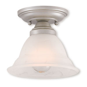 Wynnewood Brushed Silver One-Light 7.5-Inch Ceiling Mount
