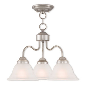 Wynnewood Brushed Silver Three-Light 18-Inch Semi-Flush Mount