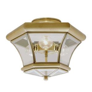 Fairfield Antique Brass Semi-Flush Mount
