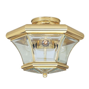 Fairfield Polished Brass Semi-Flush Mount