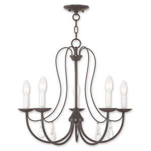 Mirabella English Bronze Five-Light Chandelier