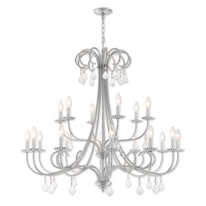 Daphne Polished Chrome 42-Inch Eighteen-Light Foyer Chandelier