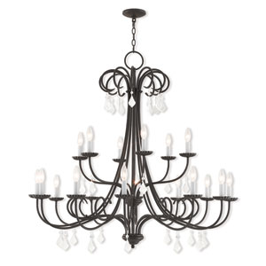 Daphne English Bronze 42-Inch Eighteen-Light Foyer Chandelier