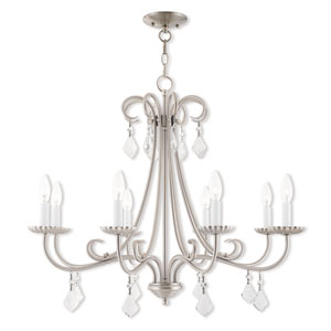 Daphne Brushed Nickel 30-Inch Eight-Light Chandelier