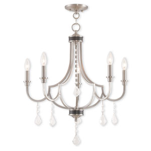 Glendale Brushed Nickel Five-Light 25-Inch Chandelier