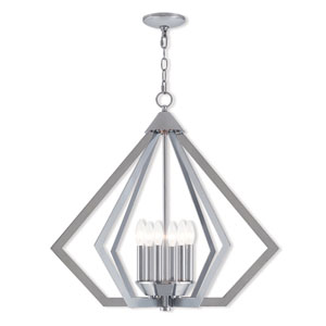 Prism Polished Chrome 26-Inch Six-Light Chandelier