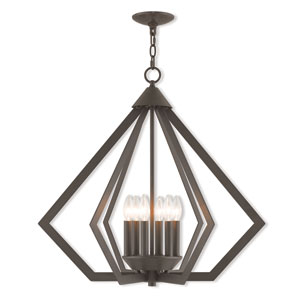 Prism Bronze 26-Inch Six-Light Chandelier